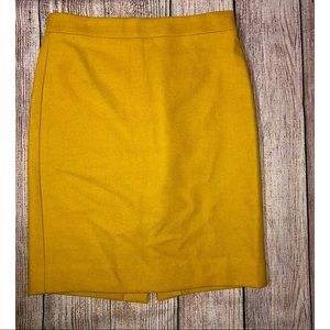 J. Crew Mustard 'The Pencil Skirt'